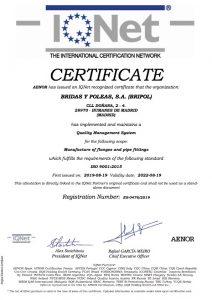 Certificado Internacional IQNetES Bripol SA
